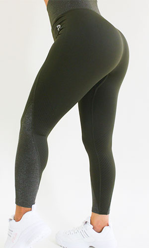 anhfit waist trimming legging green
